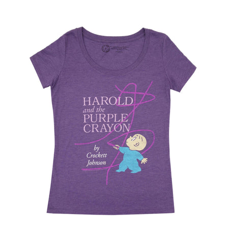 Harold and the Purple Crayon Fitted T-Shirt