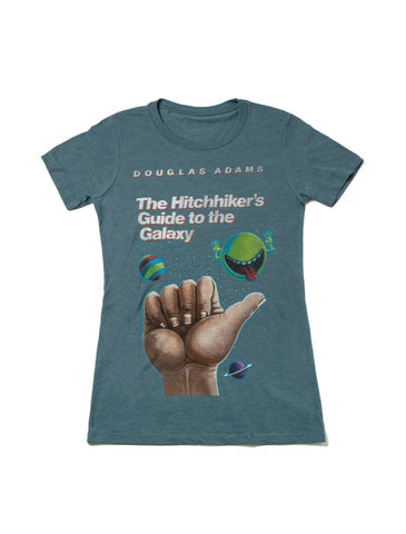 The Hitchhiker's Guide to the Galaxy Fitted T-Shirt