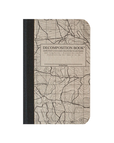 Topographical Map Decomposition Book (Pocket sized!!)