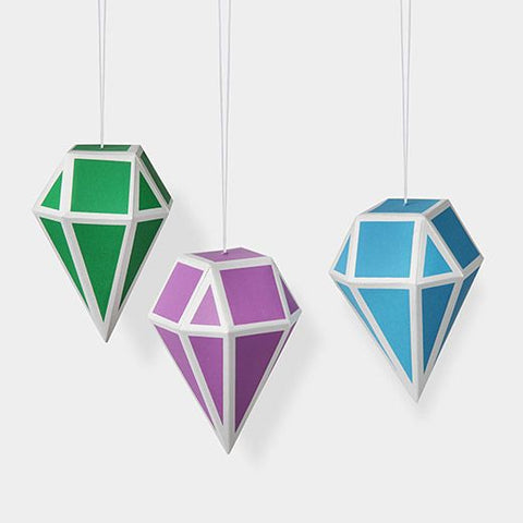 MoMA Geometric Paper Ornament Set of 3