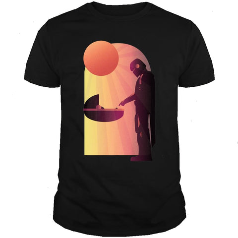 Star Wars The Mandalorian The Child Discovery Silhouette T-Shirt
