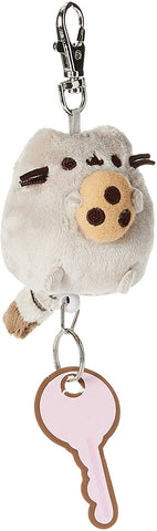 "Pusheen with Cookie Plush Retractable Keychain (2.5"")"