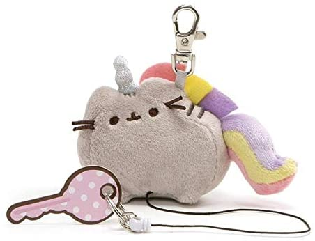 "Pusheen Plush Pusheenicorn Retractable Keychain (3"")"