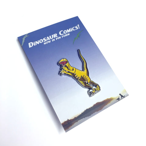 "Dinosaur Comics ""Utahraptor"" Enamel Pin by Ryan North"