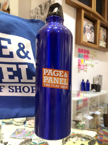Page & Panel Aluminum Water Bottle
