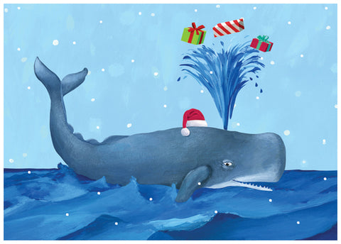 Whale Holiday Box Card Set (15pcs)