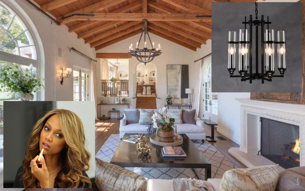 Look Book: Tyra Banks' Chic & Cheerful Living Room