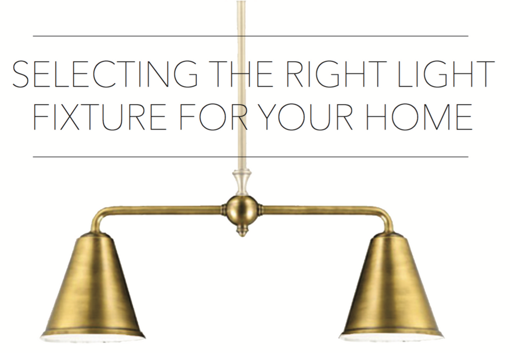 Selecting The Right Light Fixture For Your Home
