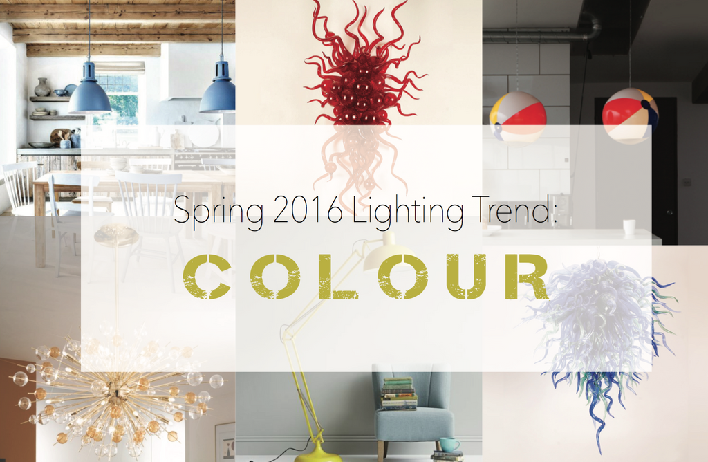 Spring 2016 Lighting Trend: Colour