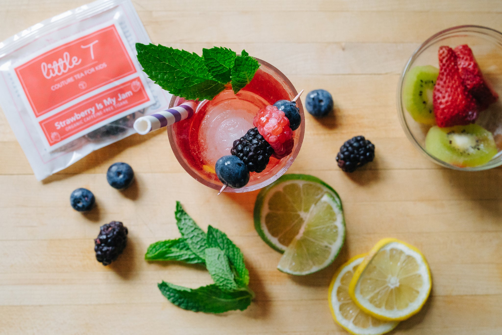 STRAWBERRY-ARNOLD PALMER MOCKTAIL