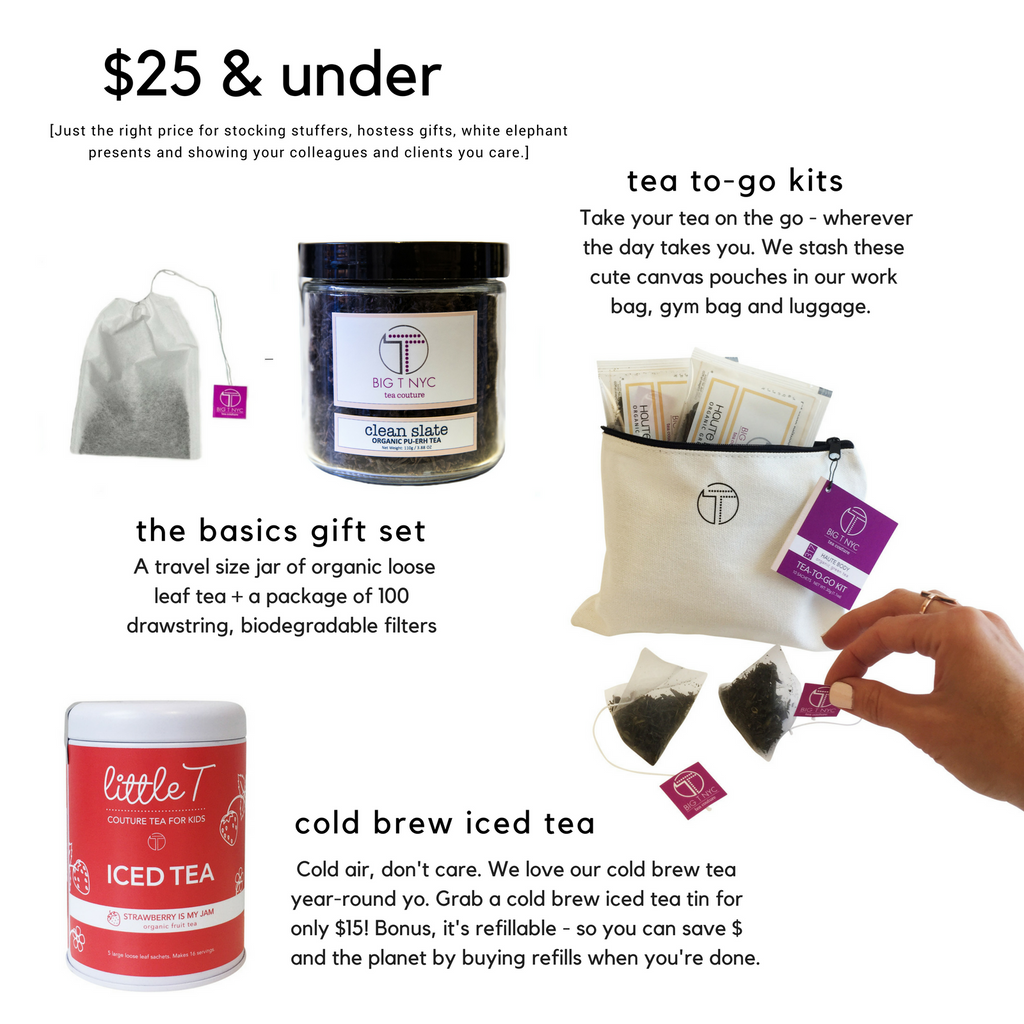 big t nyc holiday gift guide $25 and under