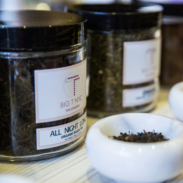 big t nyc nude collection teas, featuring all night long energizing black tea