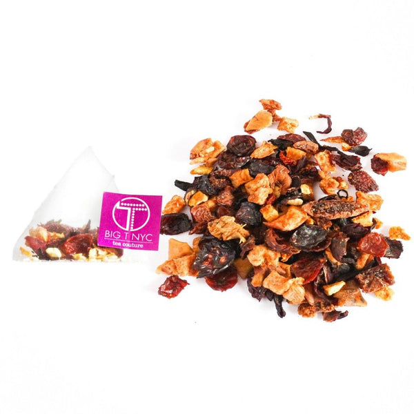 Organic Fruit Tea  <br> PIXIE PINK PUNCH  <br> Tea Sachets, TEA SACHETS, Little T, Big T NYC