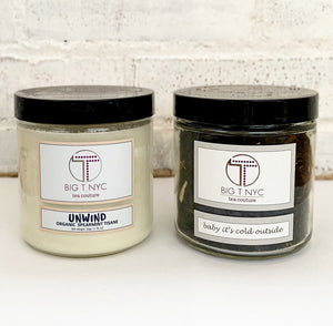 big t nyc aromatherapy tea bundle candle and loose leaf tea