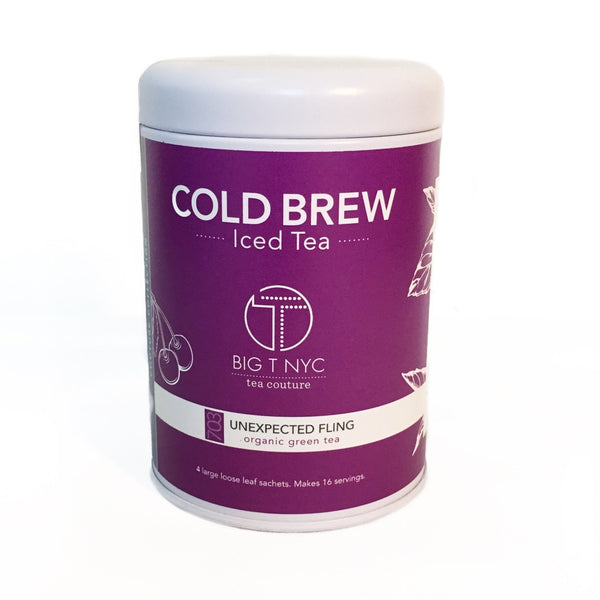 Organic Green Tea <br> UNEXPECTED FLING <br> Cold Brew Iced Tea, Cold Brew Iced Tea, Big T NYC, Big T NYC
