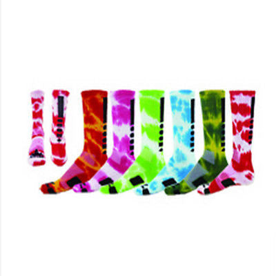 NEW RED MAX MAXIM TIE DYE CREW SOCKS BASKETBALL VOLLEYBALL LACROSSE