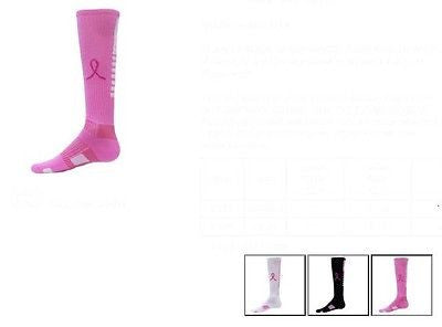 NEW RED LION KNEE HIGH SOCKS RIBBON PEGASUS SIZE MEDIUM CANCER AWARENESS