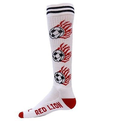 NEW RED LION WHITE HEAT SOCCER BALL KNEE HIGH SOCKS SOCCER