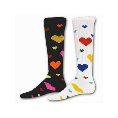 NEW RED LION WILD LOVE HEARTS SPORTS VALENTINE  OVER THE CALF SOCKS