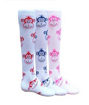 NEW RED LION MONKEY FACES KNEE HIGH ATHLETIC SOCKS SOCCER BASKETBALL VOLLEYBALL