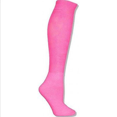 RED LION FLUORESCENT PINK SOCKS SIZE MEDIUM CANCER AWARENESS