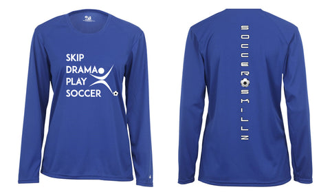 LONG SLEEVE SKIP DRAMA SOCCER JERSEY SHIRT LADIES