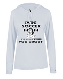 LONG SLEEVE WITH HOOD SOCCER MOM WARNED JERSEY SHIRT LADIES