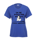 SHORT SLEEVE SOCCER MOM WARNED TEE SHIRT LADIES