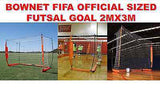 BOWNET 2m x 3m OFFICIAL FIFA SIZED FUTSAL GOAL SOCCER PORTABLE GOAL