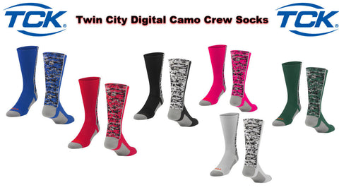 TWIN CITY DIGITAL CAMO CREW SPORTS SOCKS BASKETBALL VOLLEYBALL