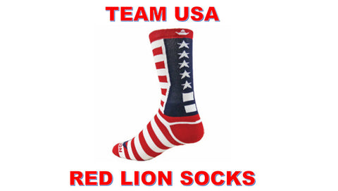 NEW RED LION TEAM USA CREW SOCKS BASKETBALL VOLLEYBALL LACROSSE