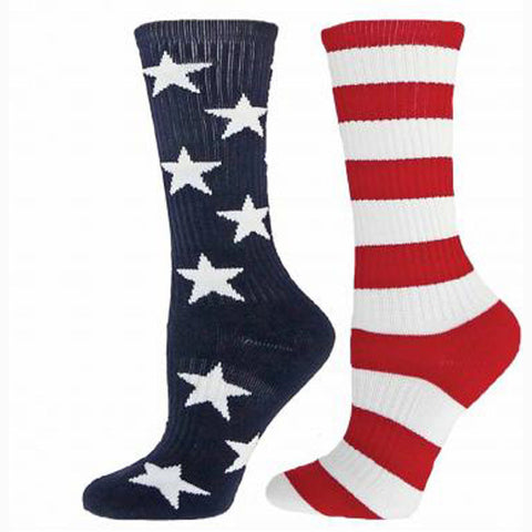 RED LION FREEDOM CREW SOCKS BASKETBALL VOLLEYBALL LACROSSE USA STRIPES AND STARS