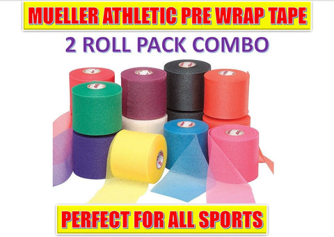MUELLER M WRAP 2 ROLL TAPE COMBO PACK PREWRAP ALL COLORS ATHLETIC TAPE