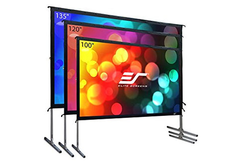 Elite Screens Yard Master 2, 120 inch Outdoor, Indoor Projector Screen with Stand
