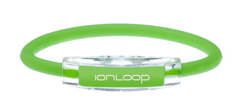 IonLoop Magnet + Negative Ion Bracelet Wristband (Apple Green, Large)