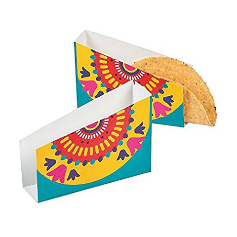 Fun Express Fiesta Taco Holders (24 Pack) Outdoor or Indoor Use