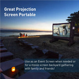 EasyGo Products 14' Inflatable Movie Canvas Projection Screen - Outdoor Indoor. Includes Inflation fan, Tie-Downs and Storage bag