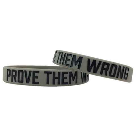 Elite Athletic Gear PROVE THEM WRONG Wristband! 2 Sizes Available. (STANDARD)