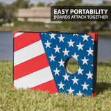 EastPoint Sports Outdoor Cornhole Game Set Bean Bag Toss MDF - 2' W x 3' L - Built-in Storage, Convenient Carry Handles and 8 Premium Bean Bags