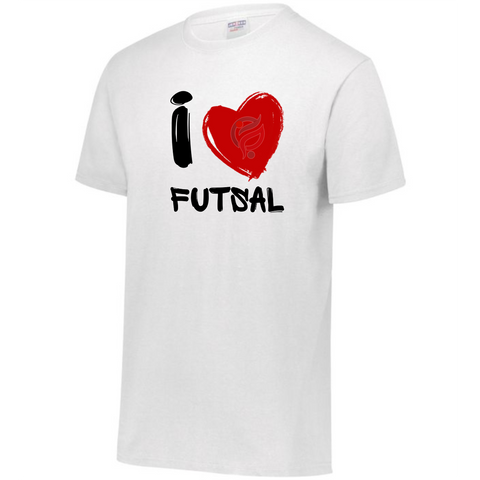 I LOVE FUTSAL TEE SHIRT HEART - FUTSAL WEAR, INSPIRATIONAL WEAR