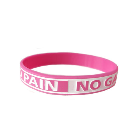 NO PAIN NO GAIN Motivational Wristband - Sports, School, Work, One size fits all