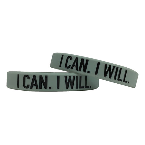 I Can I Will Motivational Wristband