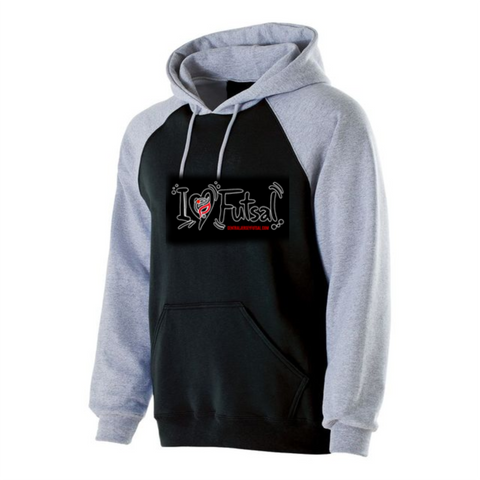 I LOVE  FUTSAL TWO TONE HOODIE - FUTSAL WEAR, INSPIRATIONAL WEAR