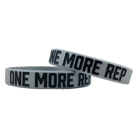 One More Rep Motivational Wristband