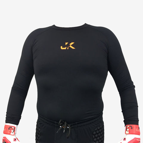 J4K GOALKEEPER GOALIE SOCCER PADDED COMPRESSION ADULT JERSEY SHIRT