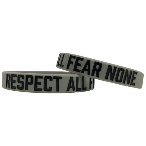 Respect All Fear None Motivational Wristband