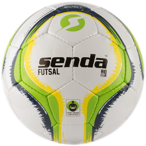 SENDA RIO CLUB FUTSAL BALL , SOCCER BALL, FAIR TRADE CERTIFIED, GREEN/YELLOW, SIZE 3 (AGES 8 - 12)