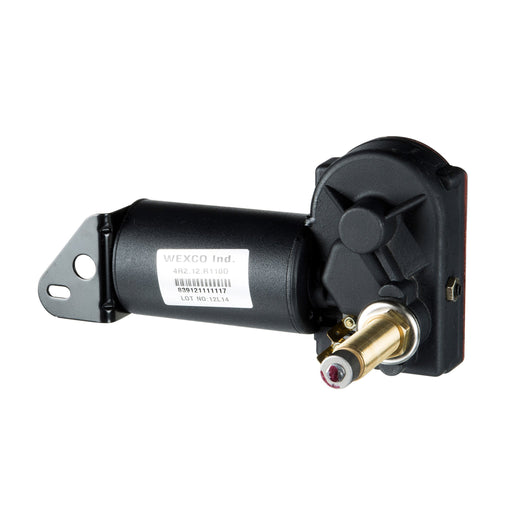 "4R2.12.R110CE (White) Wexco Wiper Motor: Two and a half inch (2.5"") shaft, 12V (American Bosch)"