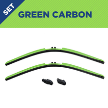 "Load image into Gallery viewer, CLIX Green Carbon Precison-Fit Two Pack Click-on Wiper Blades - 14"" 14"" - AutoTex"