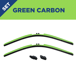 "CLIX Green Carbon Precison-Fit Two Pack Click-on Wiper Blades - 16"" 14"" - AutoTex"